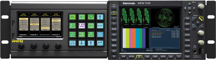 One CP-2116E-H mounted in a 3RU CPH-TEK with Tektronix WFM